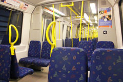 Inside the subway train, in Stockholm royalty free stock photos