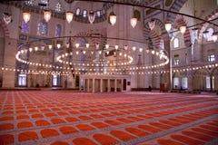 Inside Suleymaniye Mosque Stock Photography