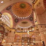 Inside of the Suleymaniye Mosque Stock Image