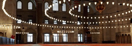 Inside the Suleymaniye Mosque,Istanbul Royalty Free Stock Images