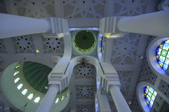 Inside of Sultan Ahmad Shah 1 Mosque in Kuantan Stock Photos