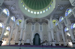 Inside of Sultan Ahmad Shah 1 Mosque in Kuantan Royalty Free Stock Images