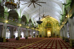 Inside Sultan Mosque Stock Image