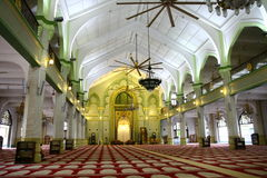 Inside Sultan Mosque. In Singapore city Stock Images