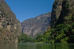 Inside Sumidero jar blisko Tuxtla Gutierrez w Chiapas Zdjęcia Stock