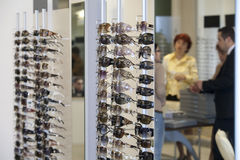 Inside sunglasses store Stock Photography