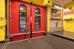 Inside a Swiss Federal Railways passenger train Royalty Free Stock Image