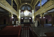 Inside the synagogue. The Interior of the synagogue Tempel in Krakow, Poland Royalty Free Stock Images
