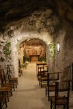 Inside the Sziklatemplon (Cave Church) - Budapest, Hungary Stock Photo