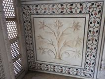 Inside the Taj Mahal mausoleum in Agra, India, UNESCO heritage, built 1632-1653 stock photography