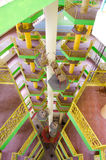 The inside of Tambun Tibetian Buddhist Temple pagoda, Perak Stock Photography
