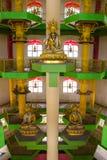 The inside of Tambun Tibetian Buddhist Temple pagoda, Perak Stock Photography