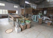 Inside a Tea factory  at Temi Tea Estate near Gangtok,Sikkim,India royalty free stock photo
