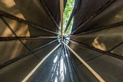 Inside A Teepee Royalty Free Stock Photography