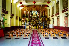 Inside the temple in Vietnam royalty free stock photo