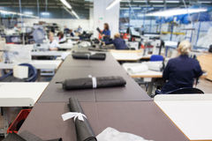 Inside of  textile factory Royalty Free Stock Photography