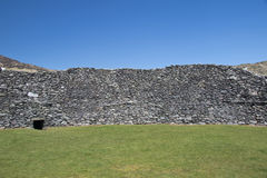 Inside of 4th century ring fort at Staigue Fort, Ring of Kerry Stock Photography