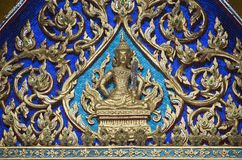 Inside Thai temple Royalty Free Stock Images