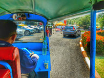 Inside thai texi at Samut Prakan,thailand Stock Photography