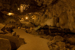 Inside the Than Lod Noi Cave Stock Photos