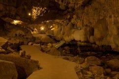 Inside the Than Lod Noi Cave Stock Photos