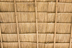Inside of thatch roof Royalty Free Stock Photo