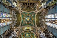 Free Inside The Basilica Of Notre-Dame Of Fourviere In Lyon, France, Europe Royalty Free Stock Image - 175013726
