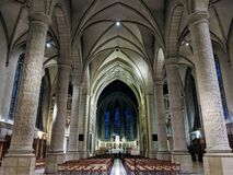 Inside The Cathedral Of Notre Dame Of Luxemburg City, Outside The Wall In Luxembourg Stock Photos
