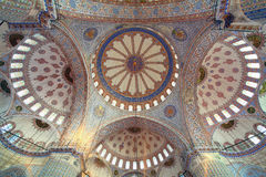 Inside The Islamic Blue Mosque In Istanbul Stock Images