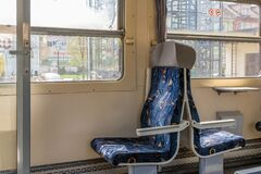 Free Inside The Train, Empty Second Class Seat Royalty Free Stock Images - 217684649