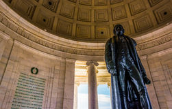 Inside the Thomas Jefferson Memorial, Washington, DC. Royalty Free Stock Photo