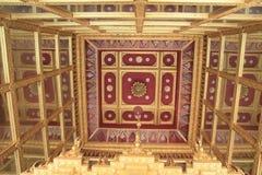 Inside of top Mondob ceiling. Saraburi, Thailand Royalty Free Stock Photography