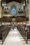 Inside Toronto Metropolitan United Church Stock Photography