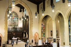 Inside Toronto Metropolitan United Church Royalty Free Stock Photography