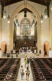 Inside Toronto Metropolitan United Church Royalty Free Stock Photos