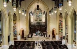 Inside Toronto Metropolitan United Church Stock Image