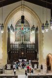 Inside Toronto Metropolitan United Church Stock Images