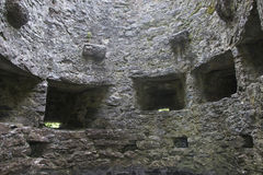 Inside tower with archers slots, Aughnanure Castle Royalty Free Stock Photos