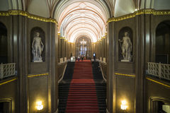 Inside of the town hall red berlin germany europe Stock Photo