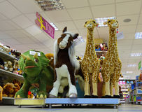 Inside toy shop Stock Images
