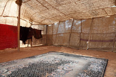 Inside of a traditional bedouin tent Royalty Free Stock Image