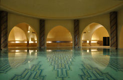 Inside of a traditional Hammam in Morocco Stock Images