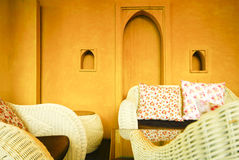 Inside traditional, luxury arab home Royalty Free Stock Photos
