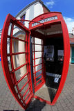 Inside Traditional red telephone box in London Royalty Free Stock Photo