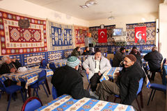 Inside a traditional tea house in Turkey Stock Photography