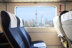 Inside of Train Stock Image