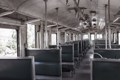 Inside train and chair Stock Images