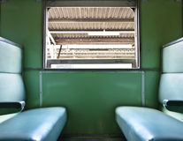 Inside train and chair Royalty Free Stock Photos