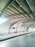 Inside the train station in daytime Royalty Free Stock Photo