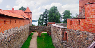 Inside in the Trakai castle. Lithuanian ancient castle in Trakai city Stock Images